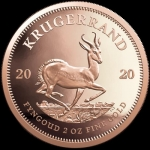 2 oz Gold South African Krugerrand 2020 Proof in Box