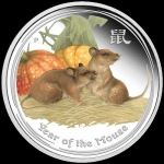 2 oz Silver Australian Lunar Year of the Mouse Coloured...