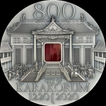 2021 Mongolia 2 oz Silver Karakorum 800th Anniversary...