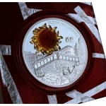 2 oz Silver Andorra Eagle 2014 Murano Art Rialto Bridge...
