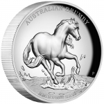 2 oz Silver Australian Brumby 2020 2 AUD High Relief Proof