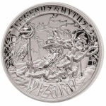 2 Oz Silver Ultra High Relief  Myths & Legends Wizard...
