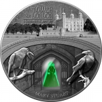 2 Oz Silver Ghana Haunted Castels - Maria Stuart in Tower...