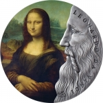 2019 Republic of Ghana 2 oz Silver Leonardo Da Vinci...