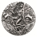 Tuvalu 2015 $2 Goddesses Of Olympus? Aphrodite 2oz Silver Antique