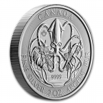 2020 Canada 2 oz Silver Old Monster Legends - The Kraken