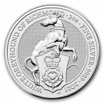 2021 Great Britain 2 oz Silver Queens Beasts: White Greyhound