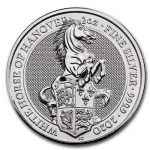 2020 Great Britain 2 oz Silver Queens Beasts: White Horse of Hannover