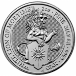2020 Great Britain 2 oz Silver Queens Beasts: White Lion of Mortimer In House - Immediatly Shipping !