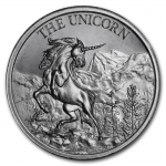 2 Unzen Ultra High Relief The Unicorn Cryptozoology Silber  999,99