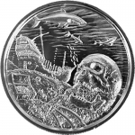 2 Oz Silver Ultra High Relief  Davy Jones Locker...