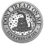 2 oz UHR ULtra High Relief Silver Round - Don?t Tread on...