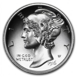 2 Unzen Ultra High Relief Mercury Dime Silber  999,99