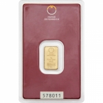 2 gram Austrian Mint Gold  (embossed) .9999 Fine (In Assay)