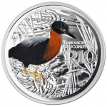 1 oz Silver South Africa White-Backed Night Heron...