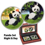 2 x 30 g Silber Panda Set Night & Day 2020 China...