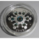 Fine Silver Coin - Blue Turquoise Snowflake (2009) 20 CAD