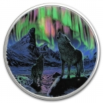 2016 Canada 2 Oz Silber30 CAD  Northern Lights: Wolves in...