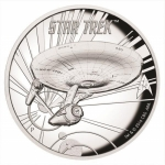 2016 Tuvalu 1 Oz Silber Star Trek U.S.S. Enterprise...