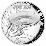 2016 Tuvalu 5 Oz Silber Star Trek U.S.S. Enterprise NCC-1701 High Relief
