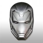 2018 2 Oz Silver Fiji Marvel Ironman Mask