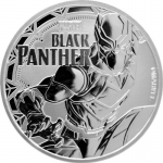 2018 Tuvalu 1 Oz Silber Marvel Black Panther 1 AUD BU