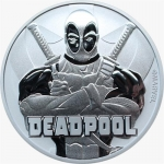 2018 Tuvalu 1 oz Silver Marvel Deadpool 1 AUD BU