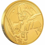 2019 Niue 1 Oz Gold Star Wars Darth Vader  250 AUD BU
