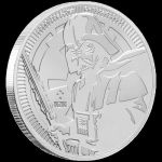 2019 Niue 1 Oz Silber Star Wars Darth Vader  2 AUD BU
