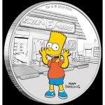 2019 Tuvalu 1 oz Silver The Simpsons Bart Simpson Proof