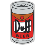 2019 Tuvalu 1 oz Silver The Simpsons Duff Beer  Proof