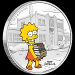 2019 Tuvalu 1 Oz Silber Die Simpsons Lisa 1 AUD Proof