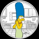2019 Tuvalu 1 oz Silver The Simpsons Marge Proof
