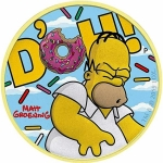 2019 Tuvalu 1 oz Silver Homer Simpson Clouds coloured...