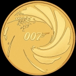 2020 Tuvalu 1 Oz Gold James Bond 007 100 AUD BU