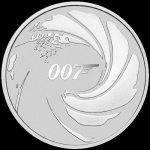 2020 Tuvalu 1 Oz Silber James Bond 007 1 AUD BU