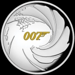 2020 Tuvalu 1 Oz Silber James Bond 007 1 AUD High Relief