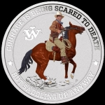 2021 Tuvalu 1 Oz Silber John Wayne The Duke in Farbe 1...