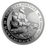 2020 Tuvalu 5 oz Silver Black Flag (The Royal Fortune)