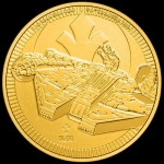 2021 Niue 1 oz Gold $250 Star Wars: Millennium Falcon BU