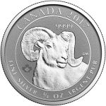 2017  Canada 3/4 oz Silver Big Horn Sheep Coin BU
