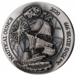 3  oz Silver High Relief 60/6  Rwanda Nautical Ounce  Mayflower 2020  ultra deep relief