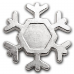 3 oz Hand Poured Silver - 9Fine Mint (Snowflake)