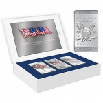 3 x 1 Oz CuNi, Flags Of America Commemorative Coin Set...
