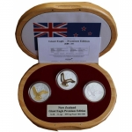 2009 3 x 1 oz Silver New Zealand 3 x 1 Dollar Giant Eagle...