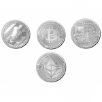 2020 Republic of Chad 3 x 1 oz Silver Crypto Series -...