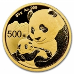 30 g Gold Panda Brilliant Uncirculated 2019