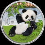 30 g Silver Chinese Panda (In Capsule) 2020 colored