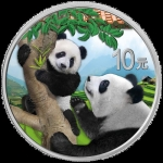 30 g Silver Chinese Panda (In Capsule) 2021 colored