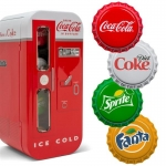 4 x 1 $ Dollar Coca Cola Vending Machine Bottle Cap...